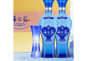 洋河蓝色经典 海之蓝 42度 礼盒装 480ml*2瓶白酒 口感绵柔浓香型(新老包装随机发放)